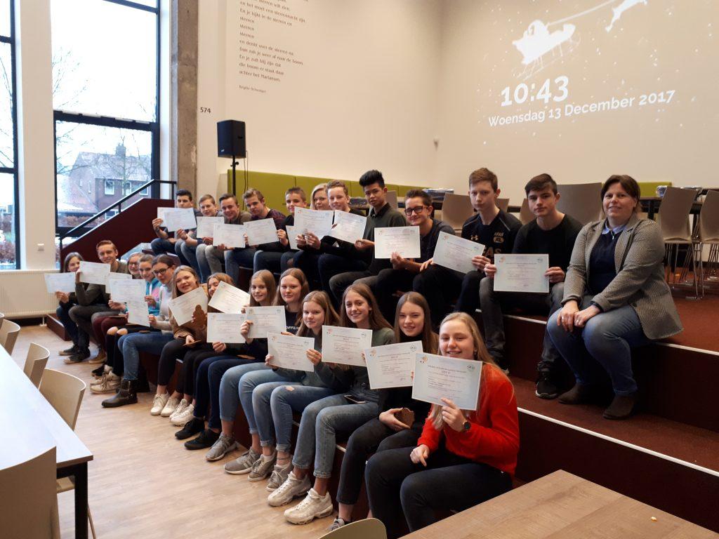 Leerlingen Marianum ontvangen internationaal DELF-diploma