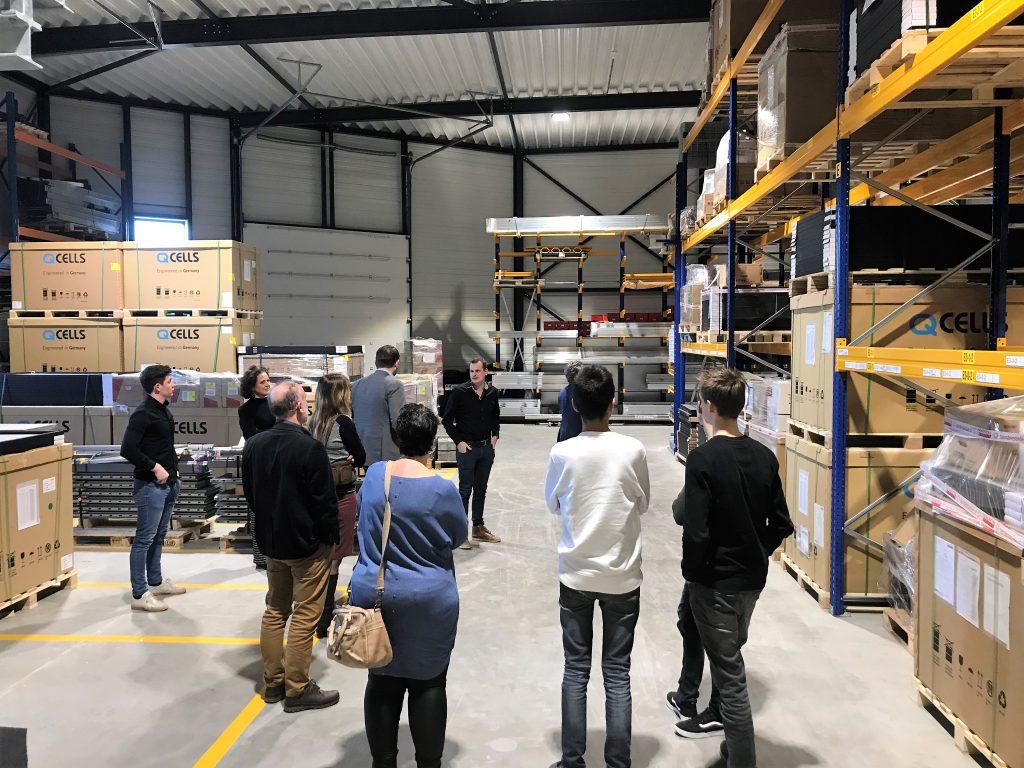 Leerlingen Marianum geven presentatie tijdens werkbezoek Provincie Gelderland