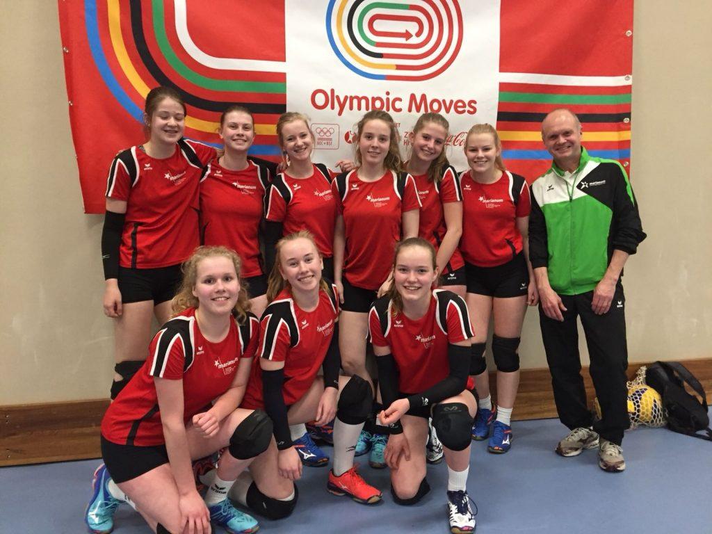 Meidenteams volleybal door naar finale Olympic Moves!
