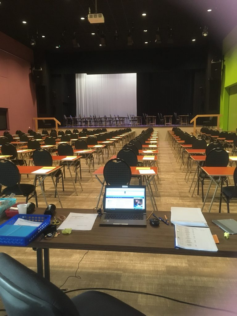 De eindexamens zijn begonnen!