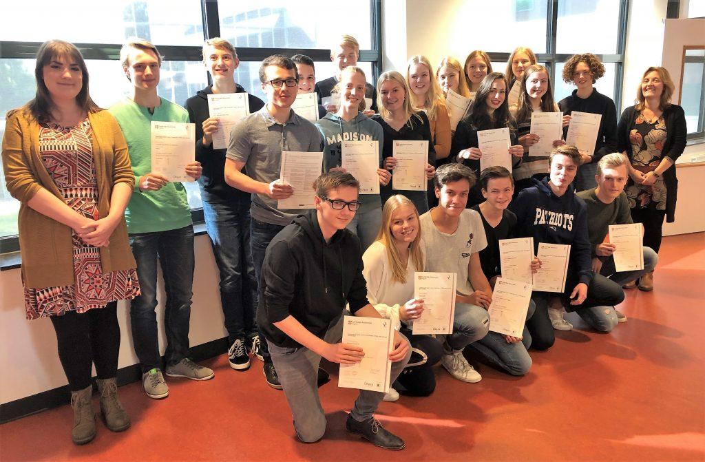Diploma's Cambridge English Advanced voor leerlingen vwo 6