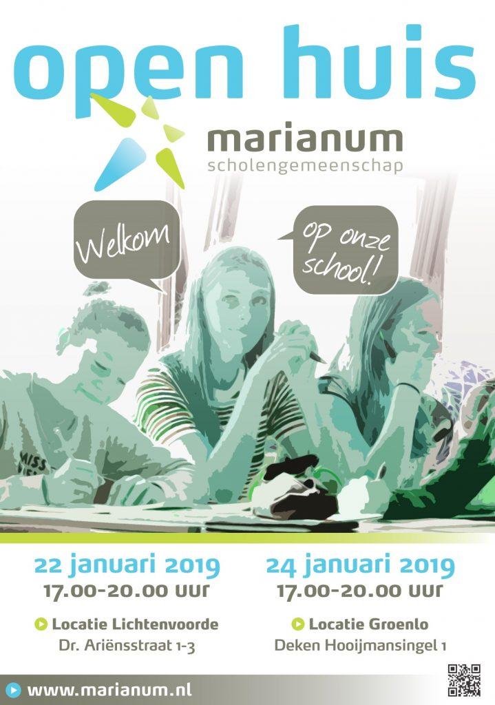 Open Huis bij Marianum 22 en 24 januari 2019