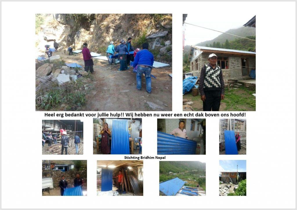 Stichting Bridhim Nepal bedankt Marianum voor steun