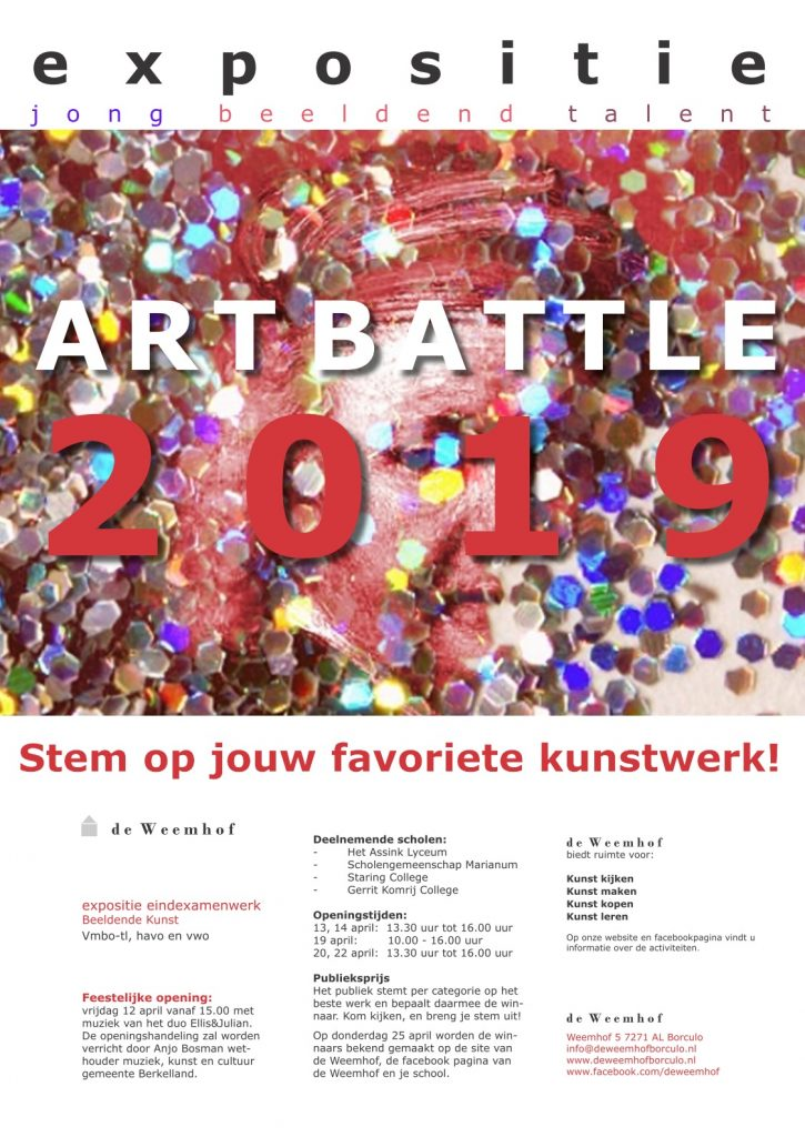 Art Battle 2019 – Marianum doet weer mee – stemmen kan nog!