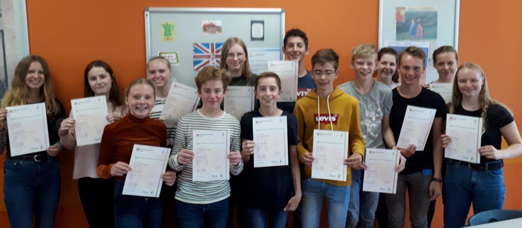 Leerlingen geslaagd voor Cambridge Engels – Gefeliciteerd!