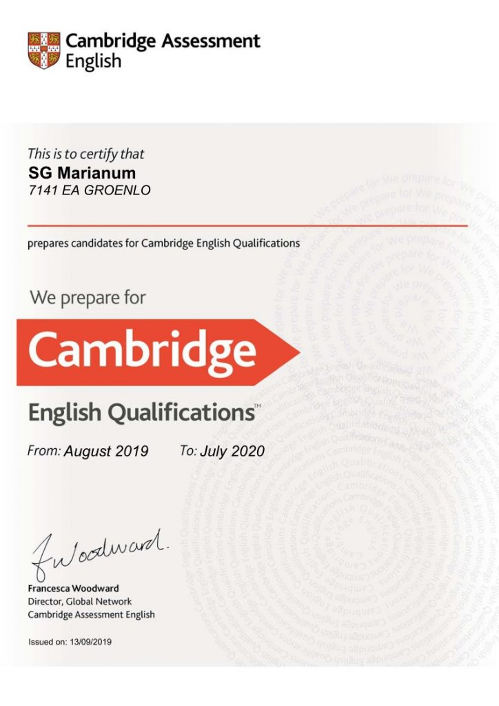 Cambridgt English Certificate