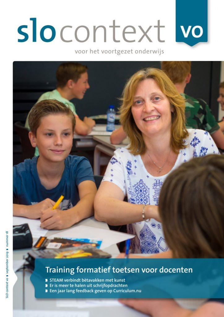 Artikel 'Training formatief toetsen voor docenten' in slo context vo