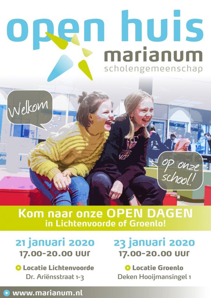 Open Huis Marianum 21 en 23 januari 2020