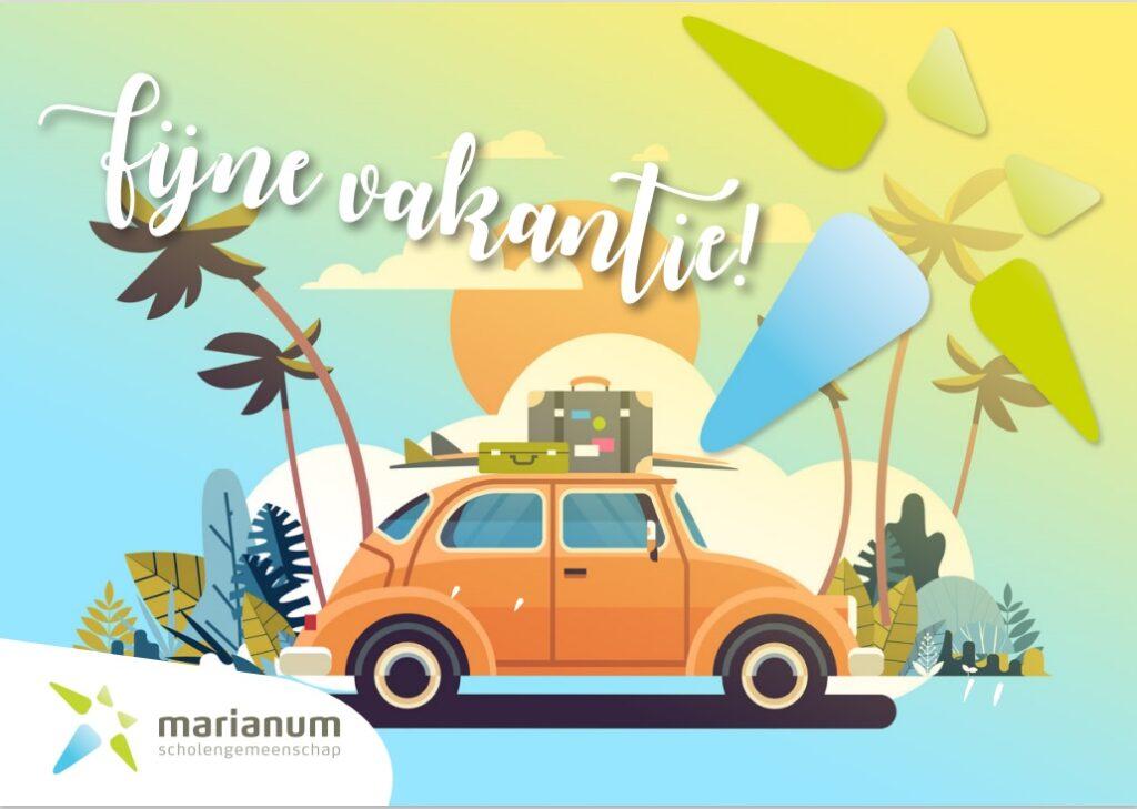 Fijne zomervakantie en tot 30 augustus 2021